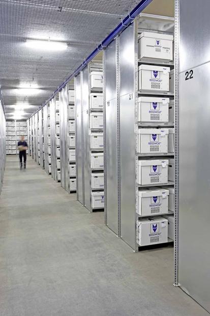 Eines der Reisswolff-Archive, wo Unternehmen ihre Akten auslagern