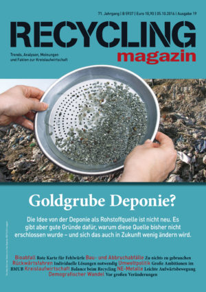 Foto Sieb: Deminos; Fotolia.com; Foto Deponie: RECYCLING magazin