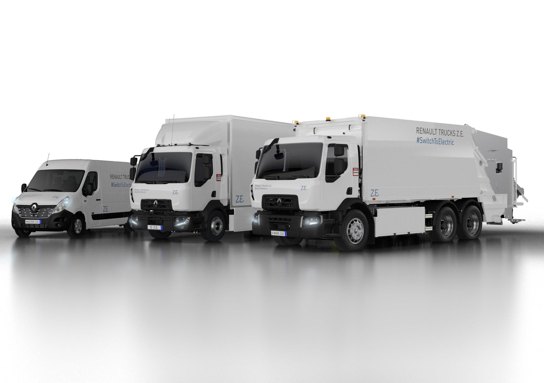 RT_Renault Trucks Baureihe Z.E.: Renault Trucks stellt nach einer zehnjährigen Testphase die Baureihe Renault Trucks Z.E. mit Elektro-Fahrzeugen von 3,5 bis 26 Tonnen für Nutzungen im Stadtverkehr vor. (Foto: Renault Trucks)