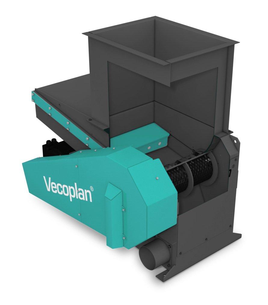 Vecoplan hat mit der neuen kompakten VAZ-Baureihe einen langlebigen und robusten Einwellenzerkleinerer entwickelt. Bildnachweis: Vecoplan AG